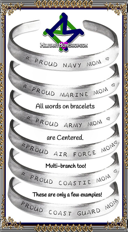 Military Bracelets for all branches and family!